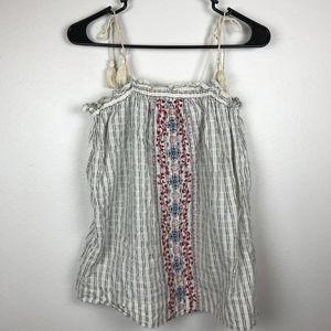 3/$20 Universal Threads Embroidered Tassel Tank